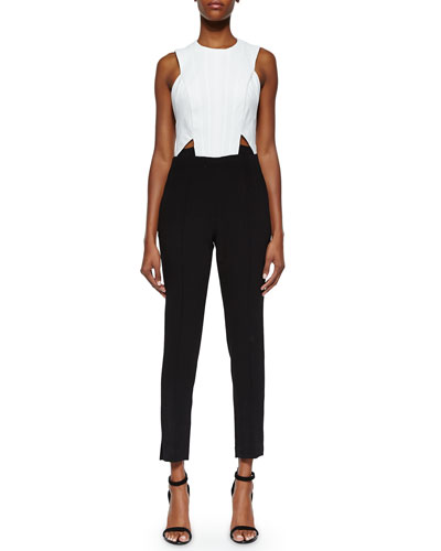 Sunny Two-Tone Cutout Jumpsuit