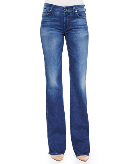 Kimmie Faded Boot-Cut Jeans, Lake Dillon Medium Bright