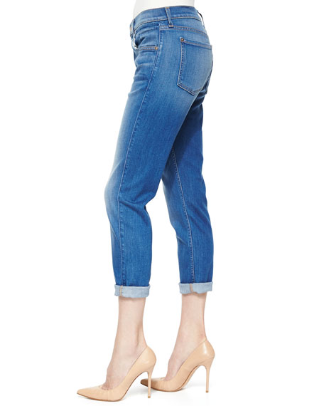 The Cropped Relaxed Straight-Leg Jeans, Weekend Denim Medium