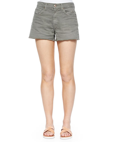 Cutoff Denim Shorts, Fatigue