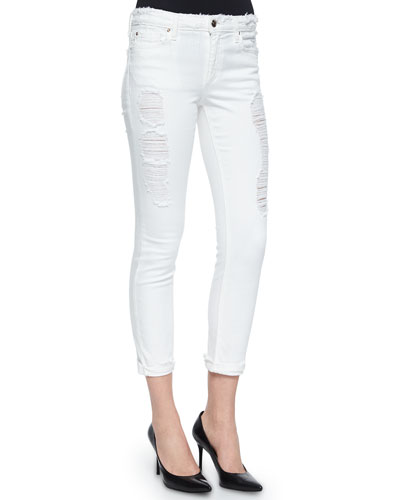 "Rolled Skinny Crop Jeans ""Play Dirty, Stay Spotless"", McKenna"