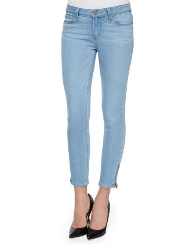 Verdugo Cropped Zip-Cuff Jeans, Cruz