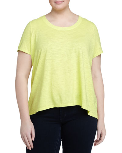 Hemp-Twist Scoop-Neck Tee, Honey Dew, Women