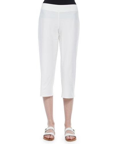 Slim Crepe Capri Pants, Petite