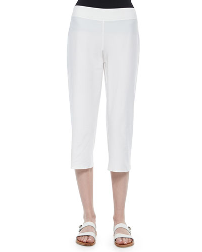 Slim Crepe Capri Pants, Women