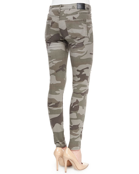 Halle Distressed Skinny Jeans, Destroyed Camo