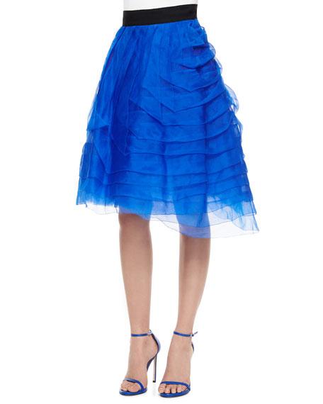 Sachin & Babi Noir Tiered Organza Party Skirt