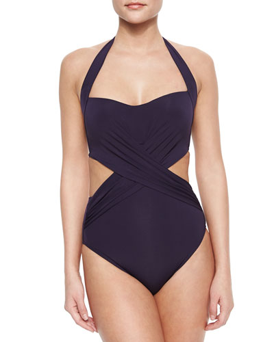 Intuition Crisscross Cutout One-Piece