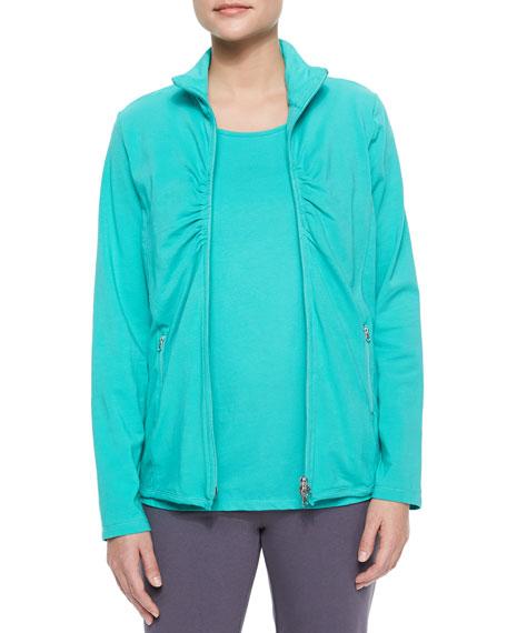 Neon Buddha Weekend Ruched Zip-Front Jacket