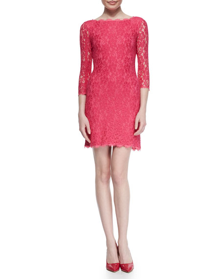 Diane von Furstenberg Zarita Bright Lace Dress