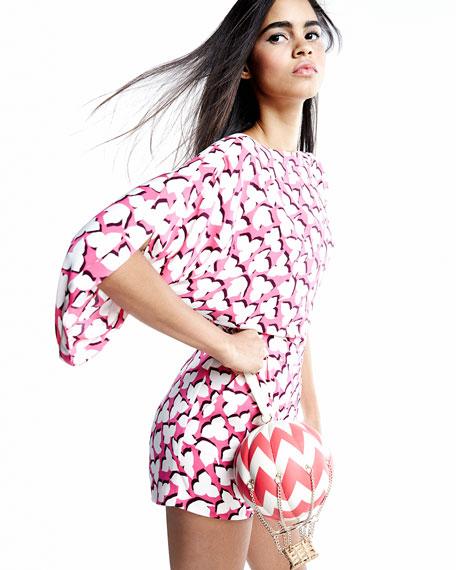 Drape-Back Short Silk Romper