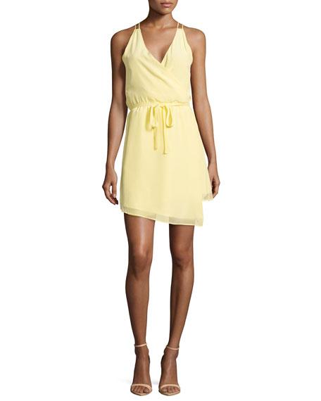 Townsen Hawi Chiffon Sleeveless Wrap Dress