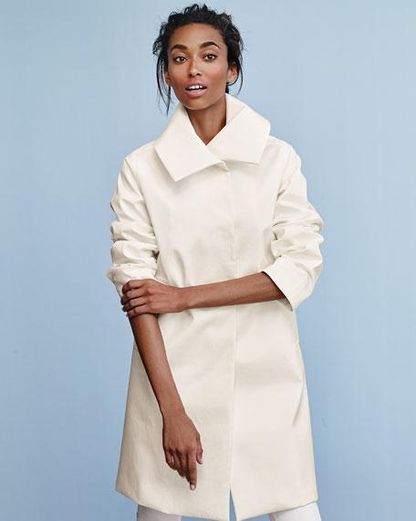 Jane A-line Rain Jacket, White