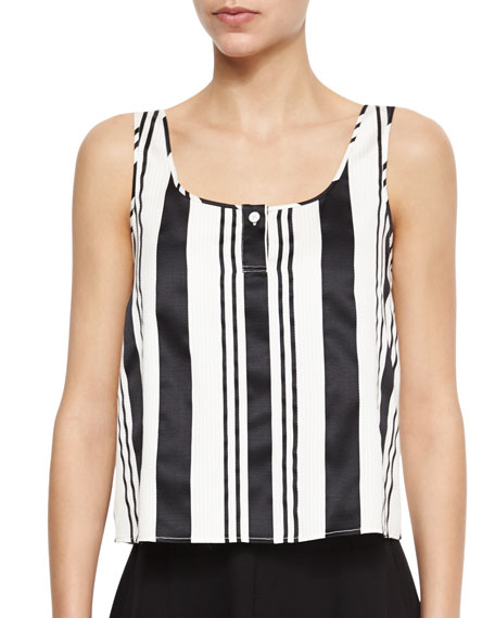 Theory Zelia Striped Sleeveless Top