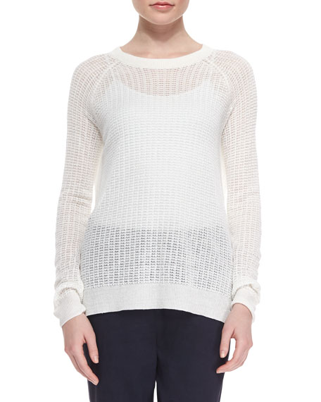 Theory Innis Wide-Stitch Knit Sweater