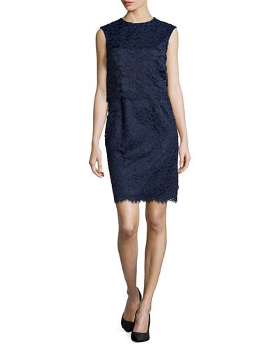 Lola Pop Top Lace Dress, Navy