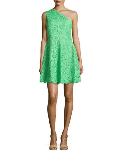 Maia One-Shoulder Lace Dress