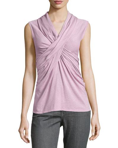 Crisscross Sleeveless Knit Top