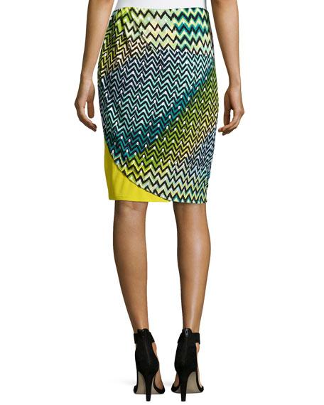 Deco Wave and Dot Skirt, Key Lime