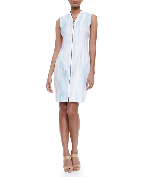 Elie Tahari Leslie Sleeveless Zip-Front Dress