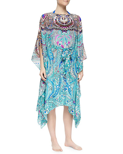 Cleopatra Printed Tie-Waist Coverup