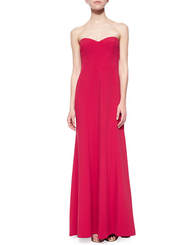 Strapless Sweetheart Column Gown