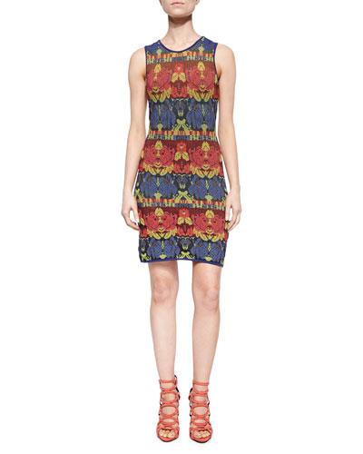 Rose Jacquard Tank Dress