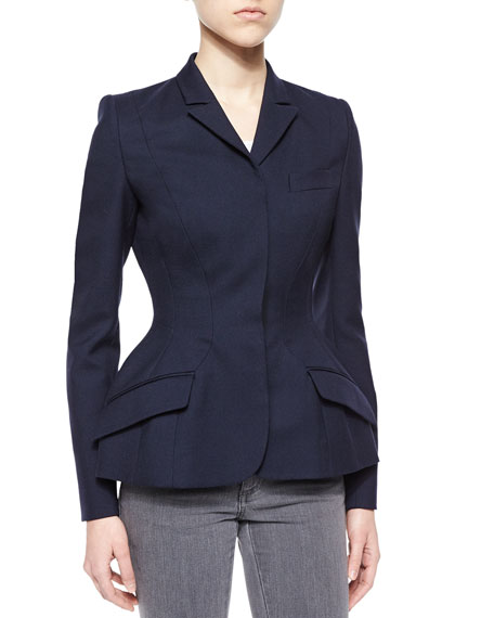 Stella McCartney Wool Fit-and-Flare Jacket, Navy