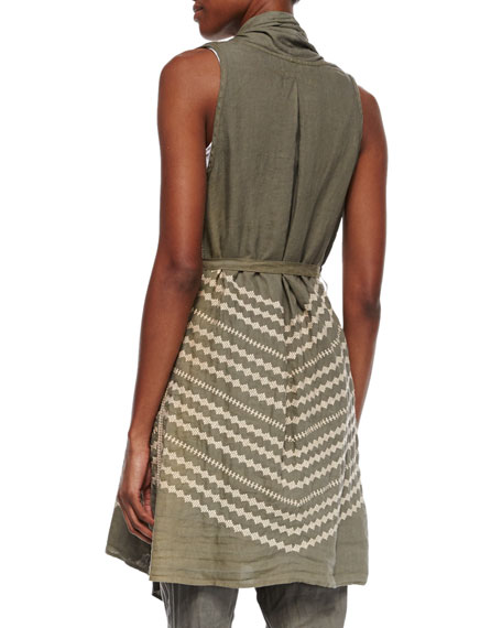 JWLA For Johnny Was Petra Embroidered Draped Vest