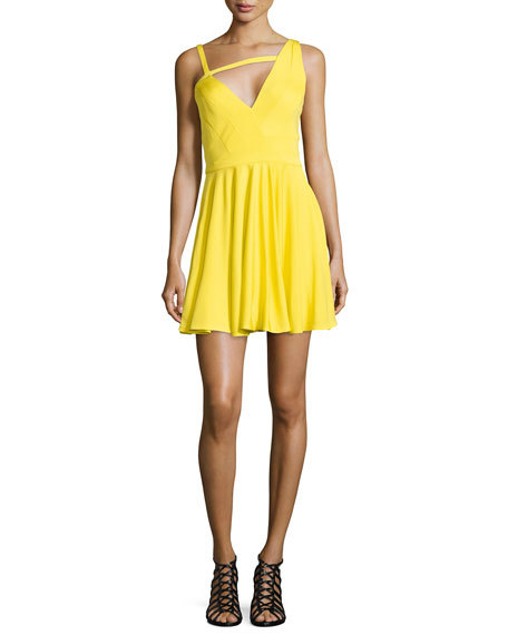 Noam Hanoch Alegra Asymmetric V-Neck Dress