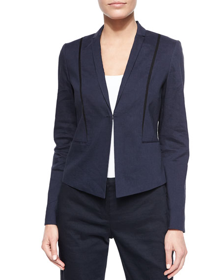 Elie Tahari Heidi Stretch Linen Jacket