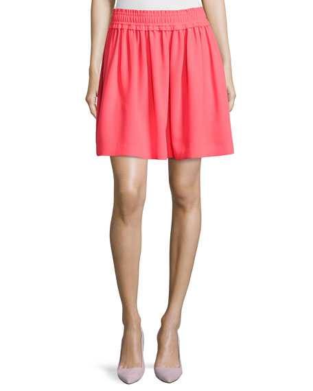 kate spade new york crepe gathered skirt