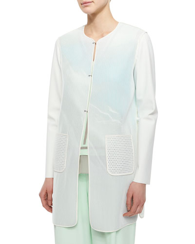 Melody Mesh Faded Long Coat