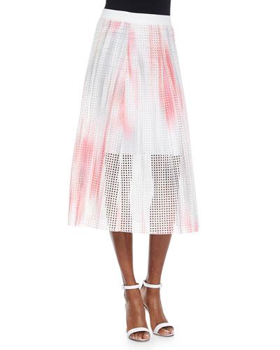 Bloom Eyelet Circle Skirt, Pink/Multicolor