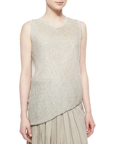 Savannah Sleeveless Linen Blouse
