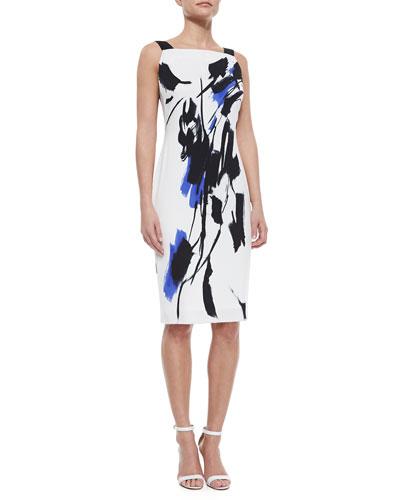 Lou Lou Tokyo Floral Sheath Dress, Blue/White