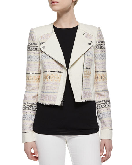 BCBGMAXAZRIA Cody Embroidered Woven Jacket