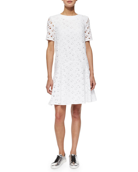 Flying Kenzo Eyelet Flounce Dress