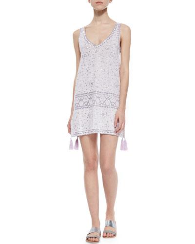 Garen Sequined Tassel-Hem Dress