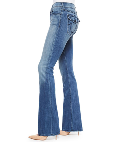 Becca Faded Boot-Cut Jeans, Earth's Mystery