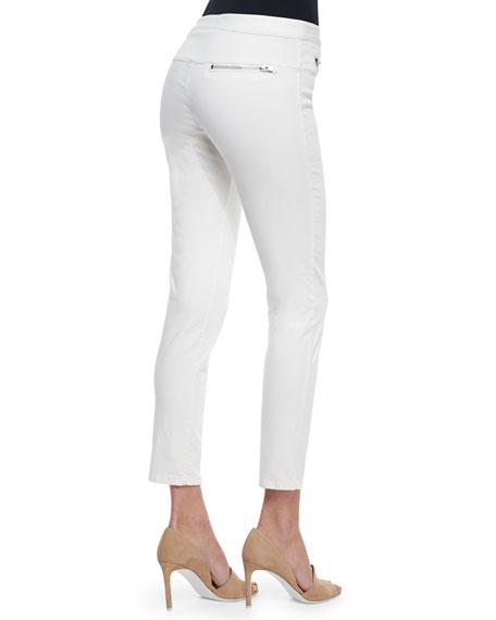 Skinny Zip-Pocket Cropped Jeans