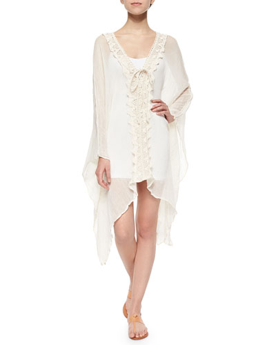 Marsei Crochet-Front Voile Dress