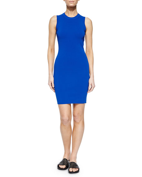 T by Alexander Wang Sleeveless Open-Back Body-Conscious Dress