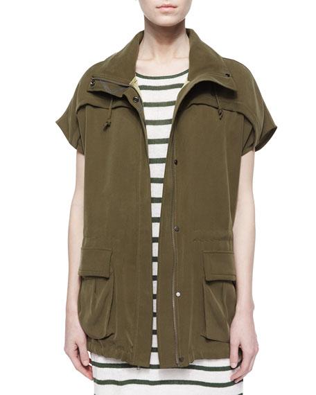 Alice Olivia Tate Cargo Pocket Cocoon Jacket Neiman Marcus