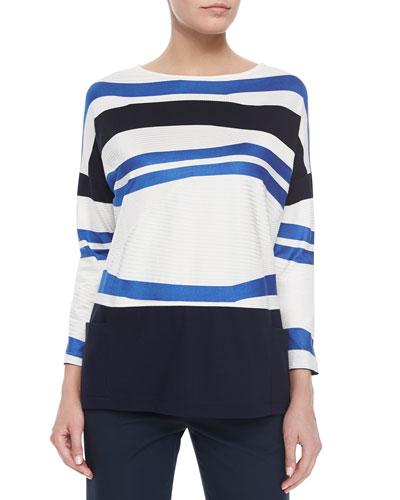 Bracelet-Sleeve Striped Top