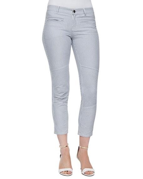 Marissa Webb Dorie Striped Twill Skinny Pants