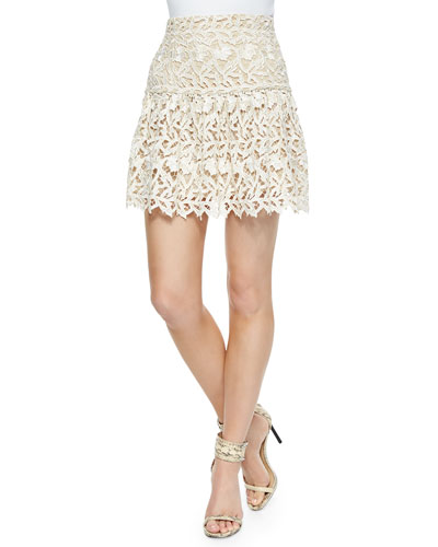 Jayce Drop-Waist Cutout Skirt