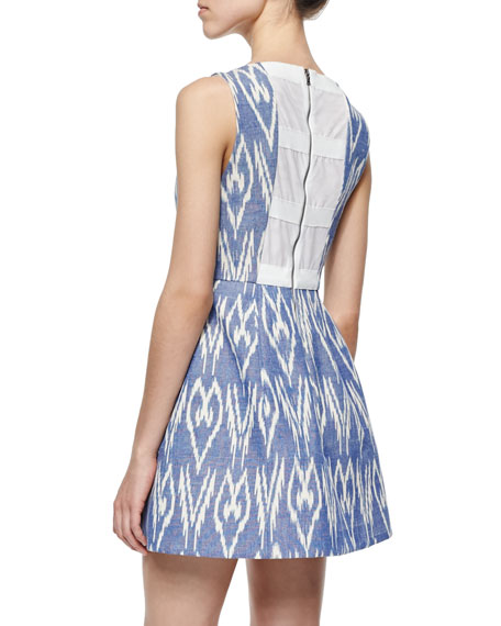 Alice + Olivia Epstein Printed Sleeveless Dress