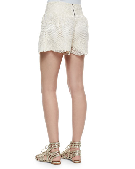 Carole Lace Shorts, Natural
