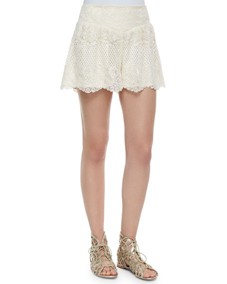 Ella Moss Carole Lace Shorts, Natural